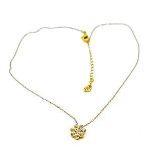 SWAROVSKI~rose-gold~CRYSTAL FLOWER~CHOKER NECKLACE